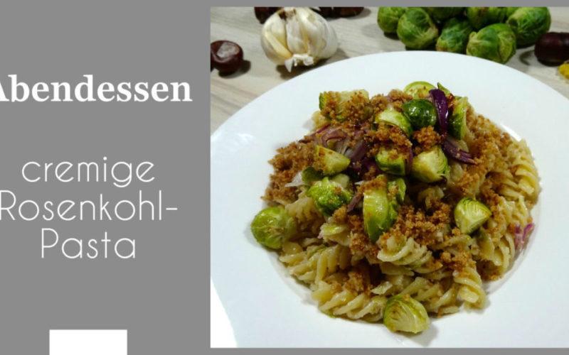 cremige Rosenkohl-Pasta