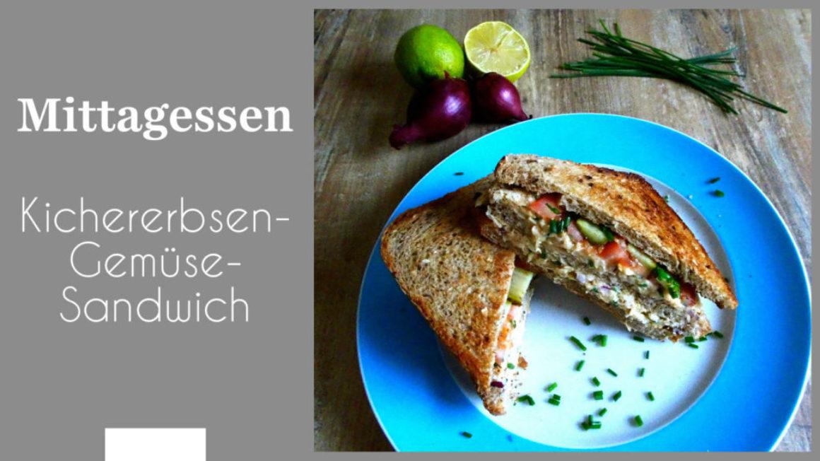 Kichererbsen-Gemüse-Sandwich