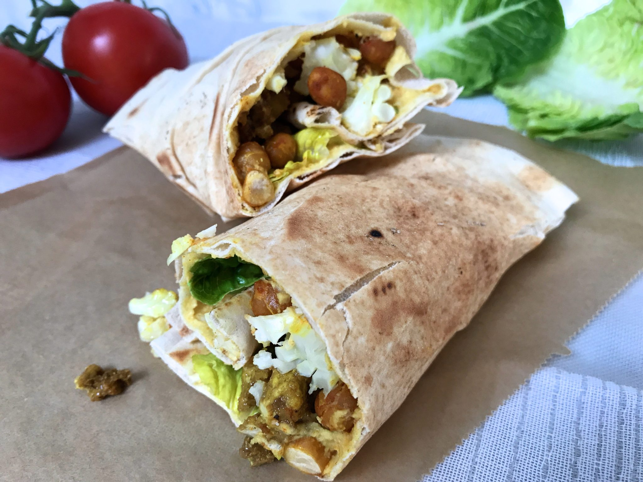 Blumenkohl-Wraps vegan