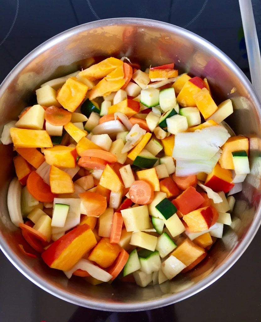 Gemüsesuppe vegan