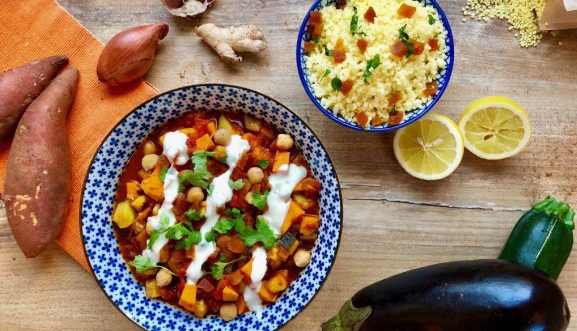 marokkanische gem se tajine mit riesen couscous vegan vegan 24 7. Black Bedroom Furniture Sets. Home Design Ideas