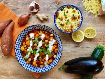 Gemüse-Tajine & Couscous vegan