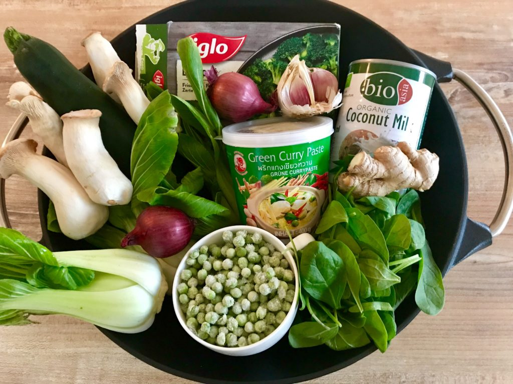 grüne Asia-Suppe vegan
