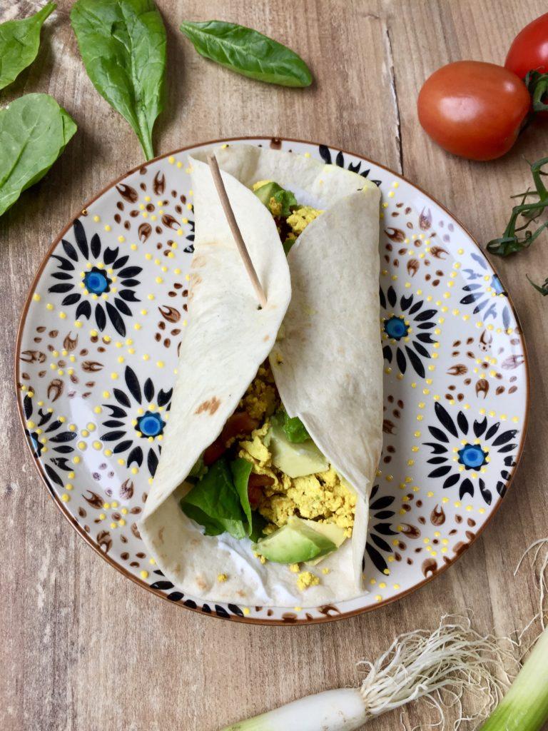 Frühstücks-Burrito vegan