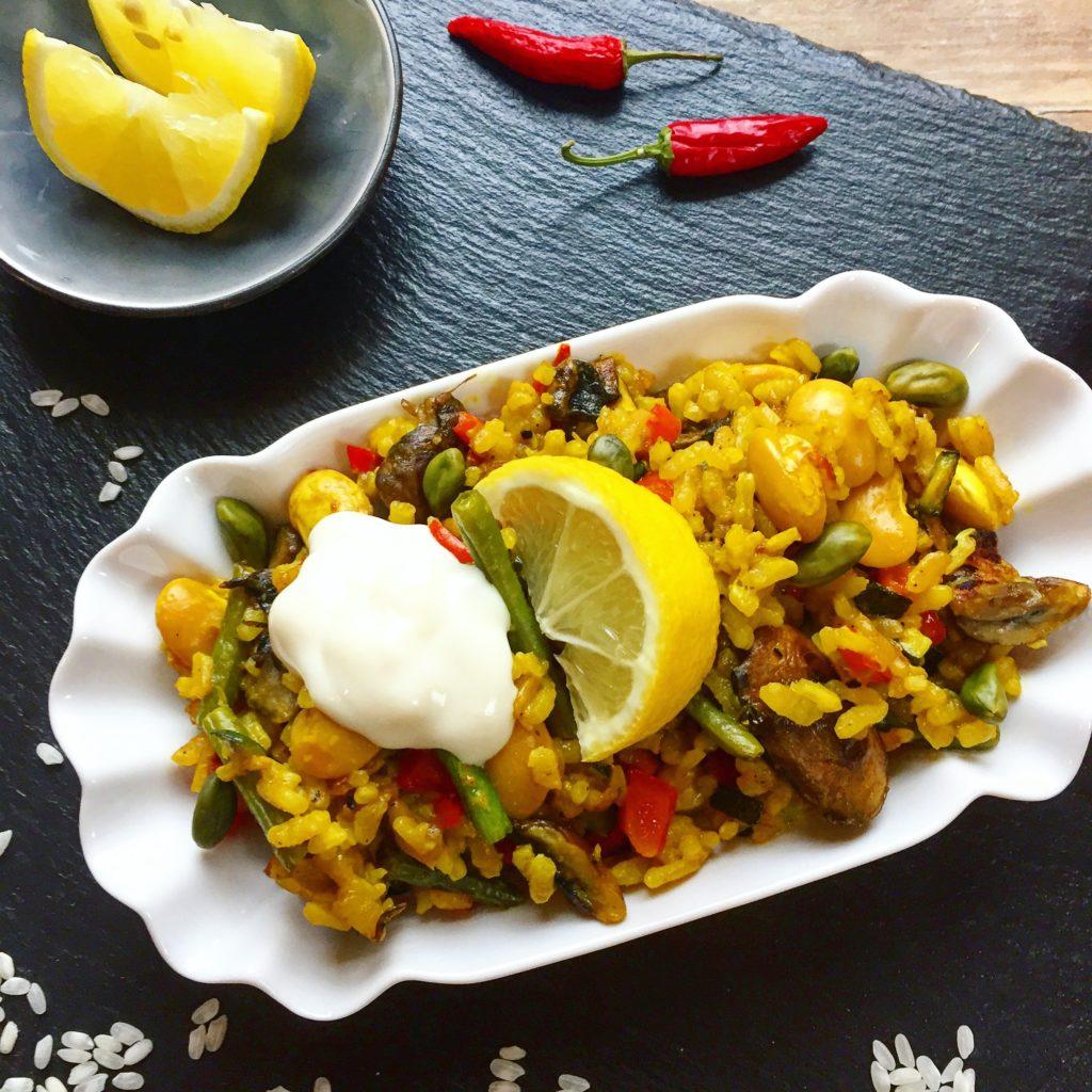 Gemüse Paella vegan