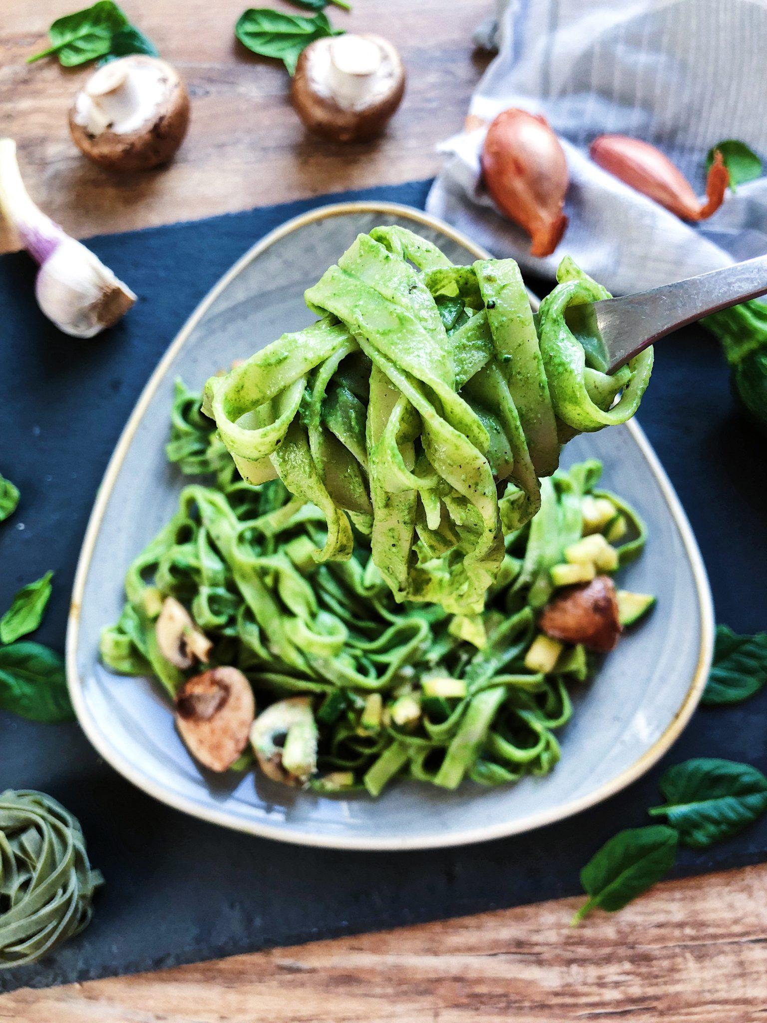 Cremige Spinat Pasta vegan